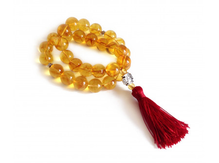 Gold Amber Christian Rosary