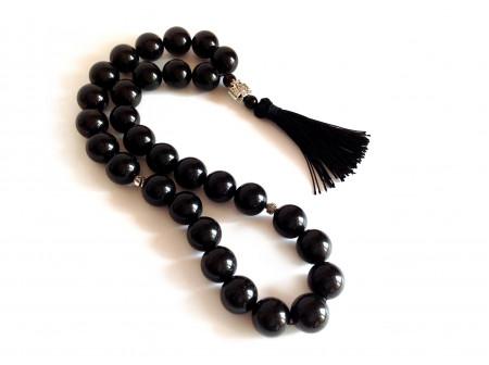 Black Amber Christian Rosary
