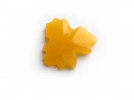 "Carved Amber Stone ""Leaf"""