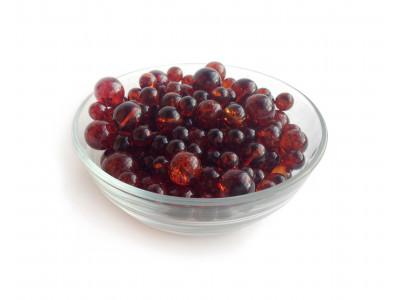 Cherry Refracted Amber Beads